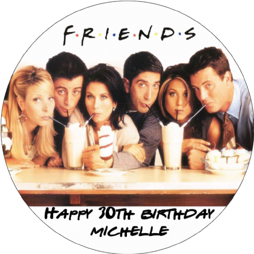 FRIENDS CAKE TOPPER PERSONALISED EDIBLE BIRTHDAY CAKE TOPPER